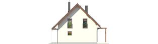 Projekt domu Raul (dwulokalowy) - elewacja prawa