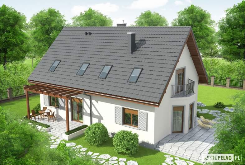 Projekt domu Raul (dwulokalowy) - Projekty domów ARCHIPELAG - Raul (dwulokalowy) - widok z góry