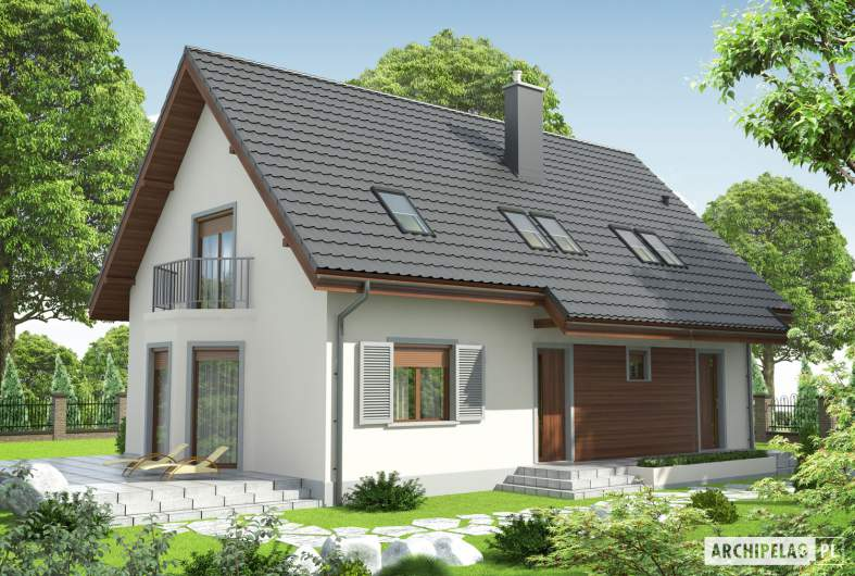 Projekt domu Raul (dwulokalowy) - Projekty domów ARCHIPELAG - Raul (dwulokalowy) - wizualizacja frontowa