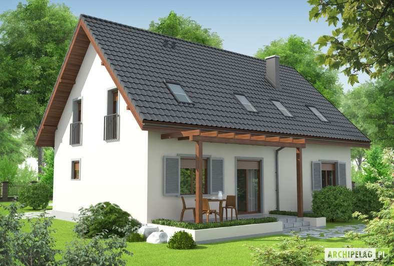 Projekt domu Raul (dwulokalowy) - Projekty domów ARCHIPELAG - Raul (dwulokalowy) - wizualizacja ogrodowa