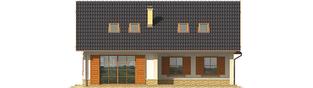 Projekt domu Miriam G2 - elewacja tylna