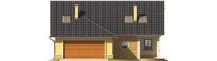 Projekt domu Miriam G2 - elewacja frontowa