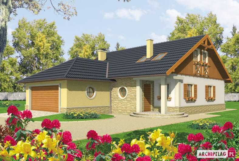 Projekt domu Miriam G2 - wizualizacja frontowa