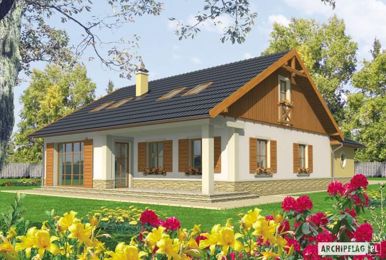 Projekt domu Miriam G2 - wizualizacja ogrodowa