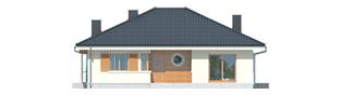 Projekt domu Franczi II - elewacja frontowa