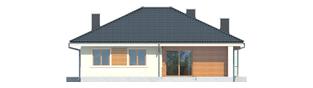 Projekt domu Franczi II - elewacja tylna