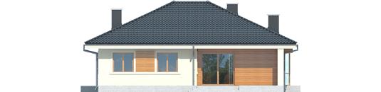 Francis II - Projekt domu Franczi II - elewacja tylna