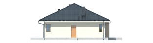 Projekt domu Franczi II - elewacja prawa
