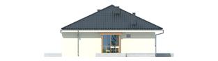 Projekt domu Franczi II - elewacja lewa