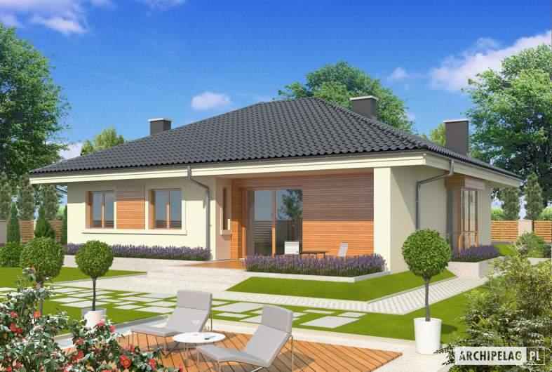 Projekt domu Franczi II - wizualizacja ogrodowa