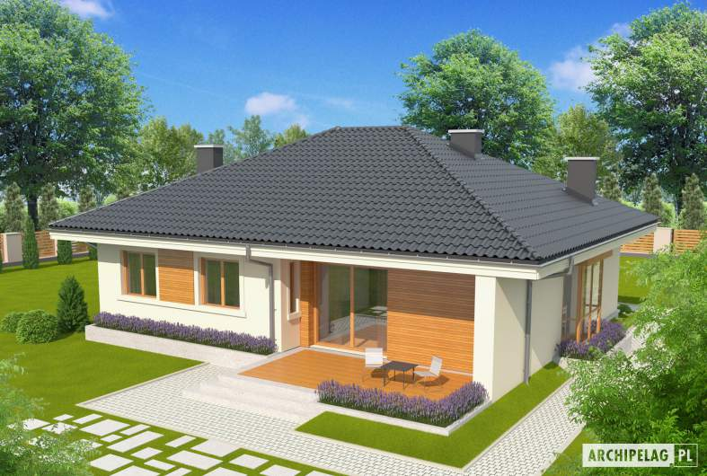 Projekt domu Franczi II - widok z góry