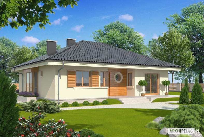 Projekt domu Franczi II - wizualizacja frontowa