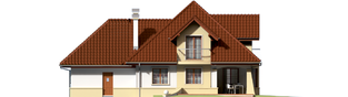 Projekt domu Henry G1 - elewacja tylna