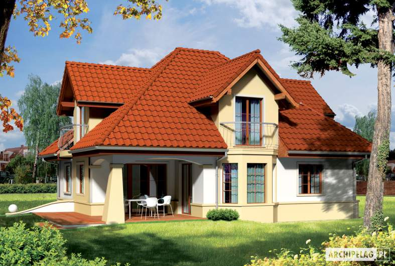 Projekt domu Henry G1 - Projekty domów ARCHIPELAG - Henry G1 - wizualizacja ogrodowa