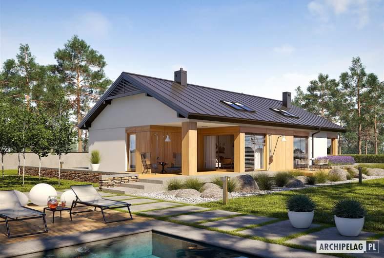 Projekt domu Daniel III G2 - wizualizacja ogrodowa