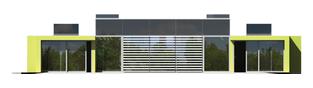 Projekt domu Flat G2 - elewacja tylna