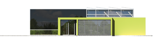 Projekt domu Flat G2 - elewacja lewa