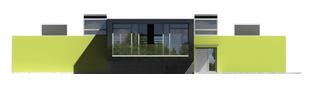 Projekt domu Flat G2 - elewacja frontowa
