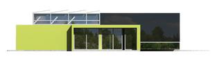 Projekt domu Flat G2 - elewacja prawa