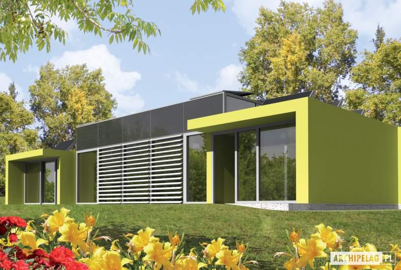 Projekt domu Flat G2 - wizualizacja ogrodowa