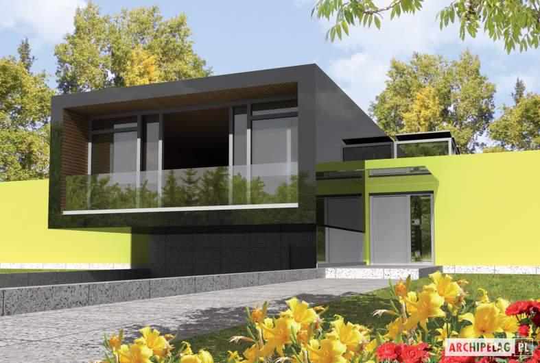 Projekt domu Flat G2 - wizualizacja frontowa