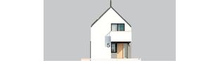 Projekt domu Moniczka III ENERGO PLUS reco - elewacja frontowa