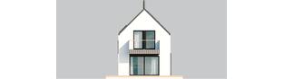 Projekt domu Moniczka III ENERGO PLUS reco - elewacja tylna