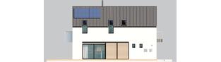 Projekt domu Moniczka III ENERGO PLUS reco - elewacja prawa