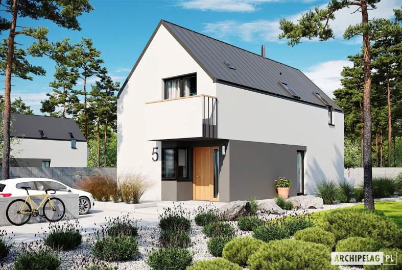Projekt domu Moniczka III ENERGO PLUS reco - wizualizacja frontowa