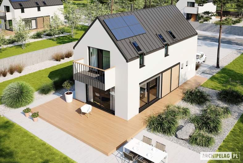 Projekt domu Moniczka III ENERGO PLUS reco - widok z góry
