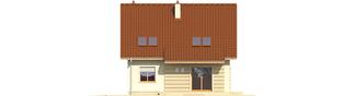 Projekt domu Adriana III (wersja B) - elewacja tylna