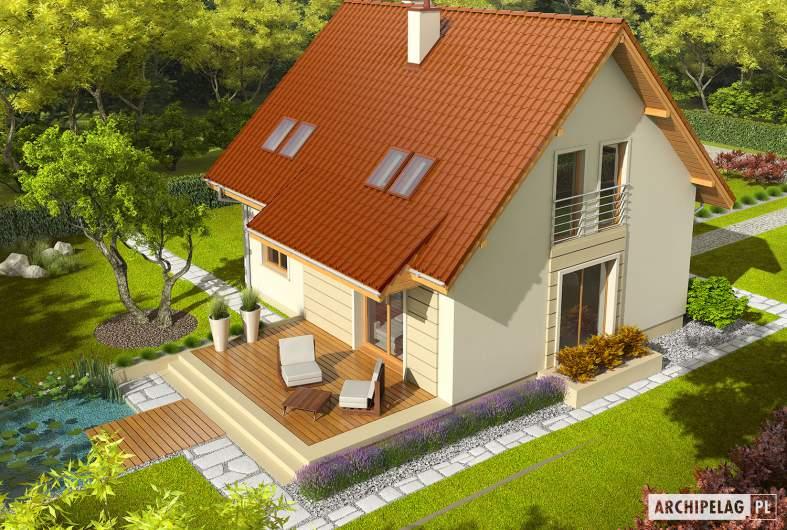 Projekt domu Adriana III (wersja B) - widok z góry
