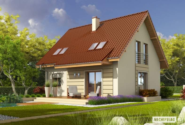Projekt domu Adriana III (wersja B) - wizualizacja ogrodowa