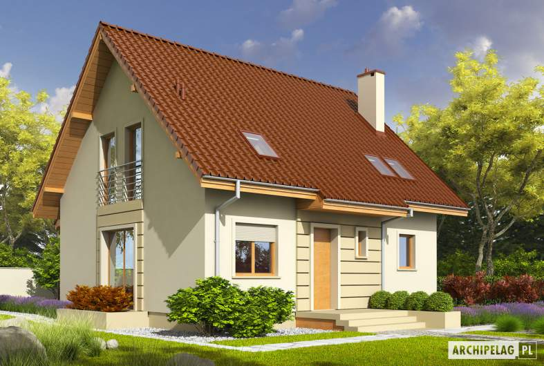 Projekt domu Adriana III (wersja B) - wizualizacja frontowa