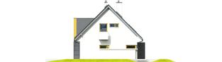Projekt domu Tolek G1 - elewacja prawa