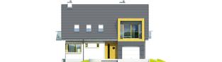 Projekt domu Tolek G1 - elewacja frontowa