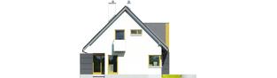 Projekt domu Tolek G1 - elewacja lewa
