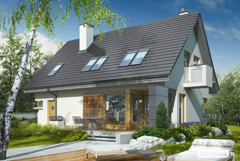 Projekt domu Tolek G1 - wizualizacja ogrodowa