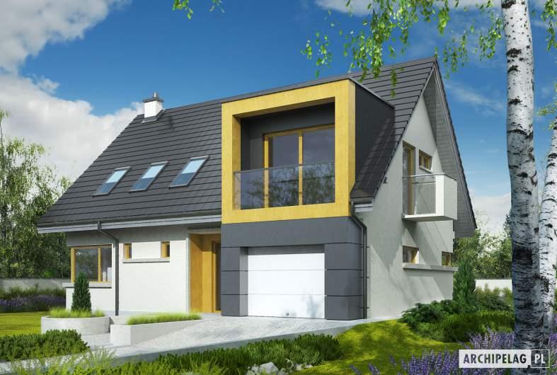 Projekt domu Tolek G1 - wizualizacja frontowa