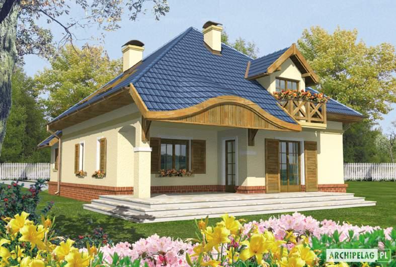 Projekt domu Milo G1 - wizualizacja ogrodowa