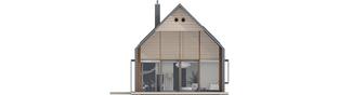 Projekt domu EX 14 soft - elewacja tylna