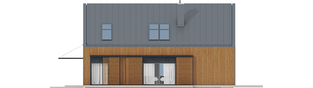 Projekt domu EX 14 soft - elewacja prawa