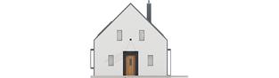 Projekt domu EX 14 soft - elewacja frontowa