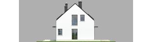 Projekt domu E1 ECONOMIC (wersja A) - elewacja prawa