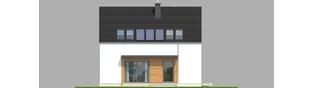 Projekt domu E1 ECONOMIC (wersja A) - elewacja tylna