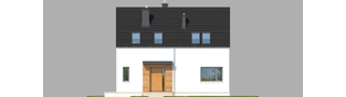 Projekt domu E1 ECONOMIC (wersja A) - elewacja frontowa