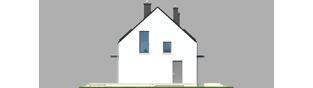 Projekt domu E1 ECONOMIC (wersja A) - elewacja lewa