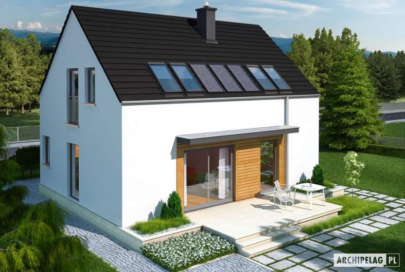 Projekt domu E1 ECONOMIC (wersja A) - widok z góry