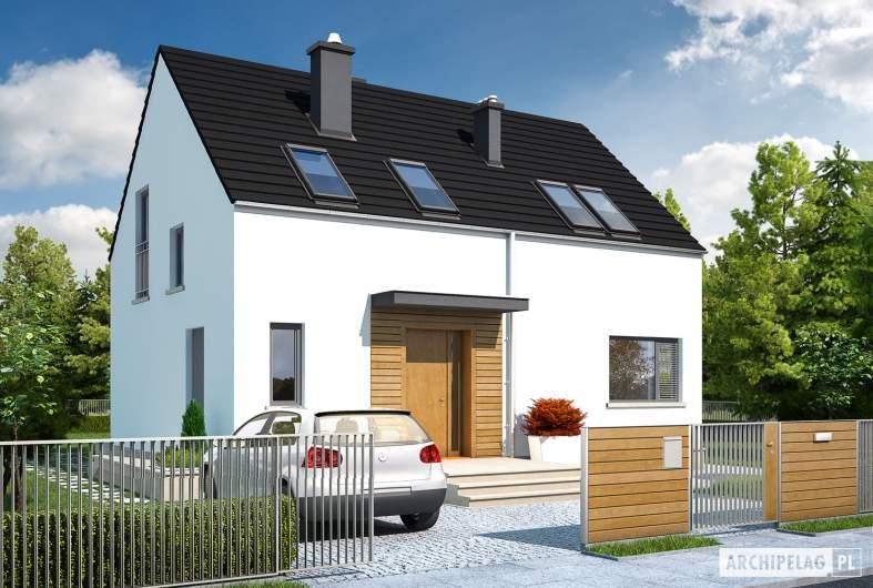 Projekt domu E1 ECONOMIC (wersja A) - wizualizacja frontowa
