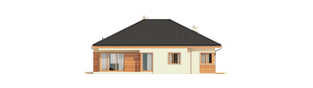 Projekt domu Eris G2 (wersja C) MULTI-COMFORT - elewacja tylna